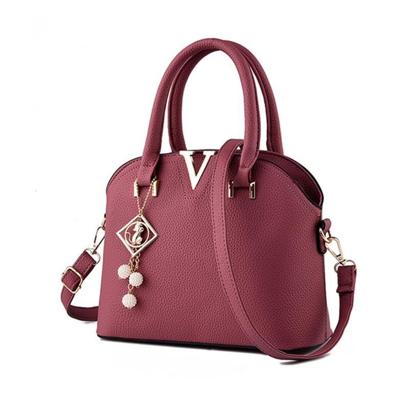 Korean Style Luxury Women Bag Designer Handbags Women PU Leather Shoulder  Bags Shell Shaped Tote Large Messenger Bags Hand Bags Shoulder Bags From  Permen 835bd4188fac5