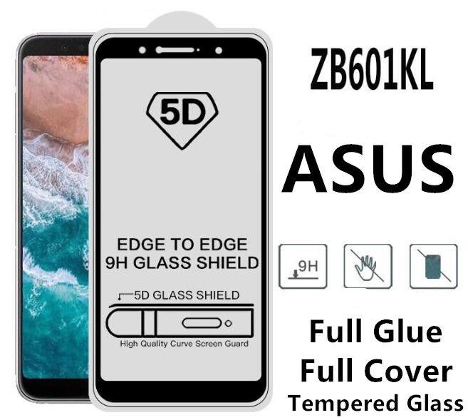 ZB601KL 9D 5D 6D Full Glue Full Cover Tempered Glass Screen Protector for  Asus Zenfone Max Pro M1 M2 Live L1 zb555kl ZB633kl ZB631kl