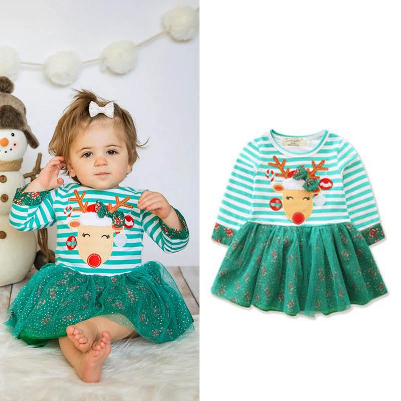 Christmas baby girl dresses girls dresses kids designer clothes girls dress cute dresses for kids A7337