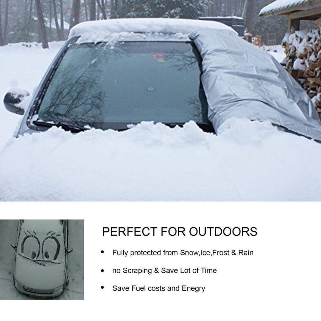 Pare-brise de la couverture neigeuse, Givre, Glace Hiver Pare-Soleil poussière Protecteur Bouclier
