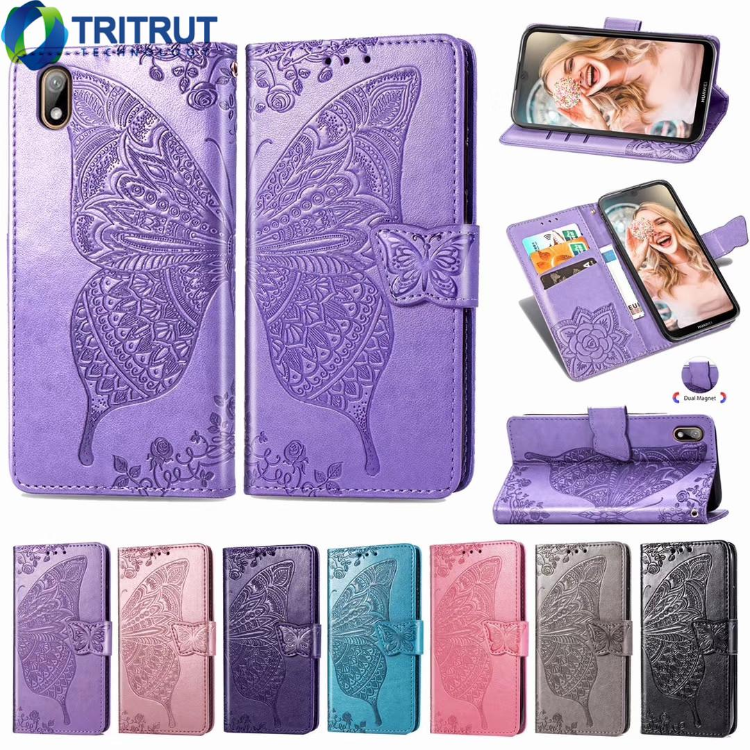 Butterfly Wallet Leather phone Cases For Iphone Samsung of various mobile phone models Holder Card ID Slot Flip Cover Card Pocket Cases MQ20