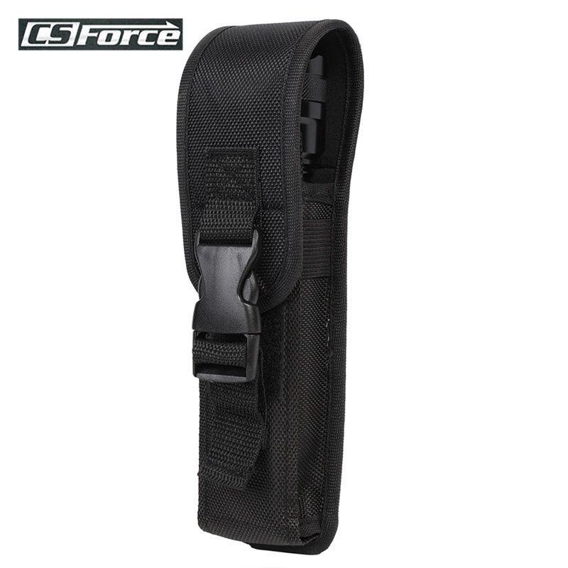 LED Flashlight Torch Nylon Pouch Holster Belt Clip Case Bag Holder Waist Pouch