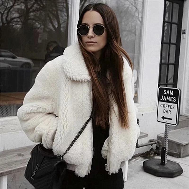 272aa08499 2019 Elegant Pink Shaggy Women Faux Fur Coat Streetwear Autumn Winter Warm  Plush Teddy Coat Female Plus Size Overcoat Party Fashion From Combocai, ...