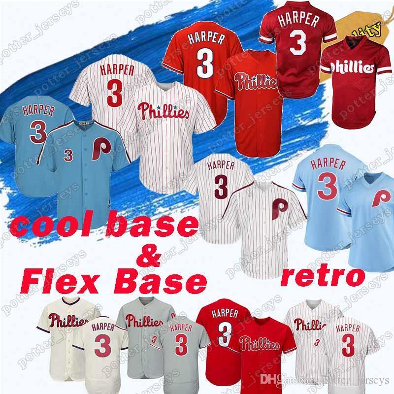 quality design c5e32 430c9 Philadelphia HOT Phillies Jersey 3 Bryce Harper 99 Mitch Williams 10 Darren  Daulton 4 Lenny 7 Maikel Franco Jerseys Flex Base & Cool Base