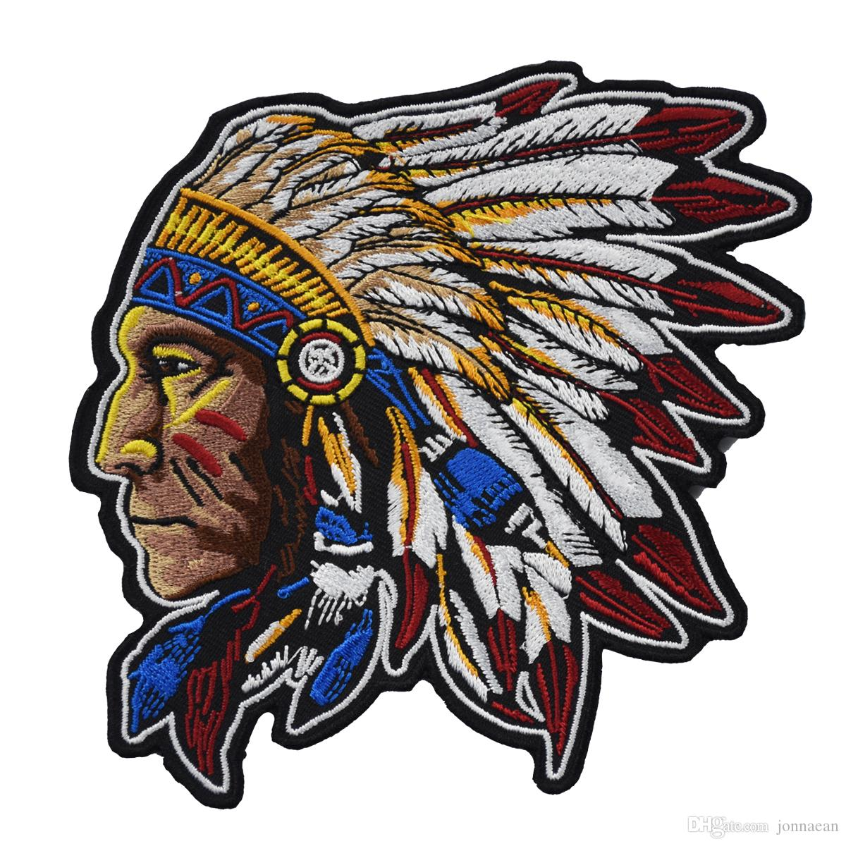 High Quality Embroidered Indiana Motorcycle Iron On Patch For Biker MC Club  Jacket Clothing Custom Free Shipping