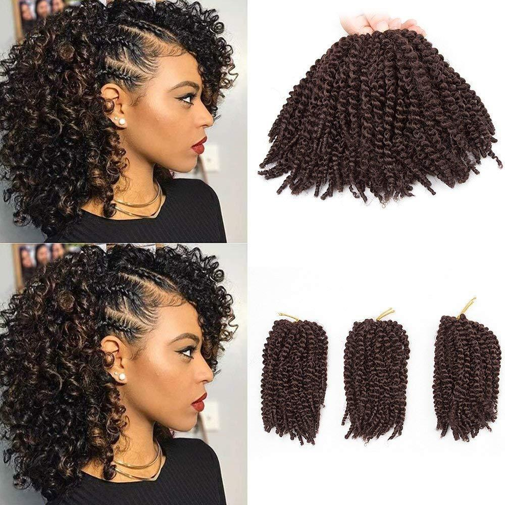 2019 Pack Of 3 Marlybob Crochet Braids Hair Ombre Afro Kinky Curly