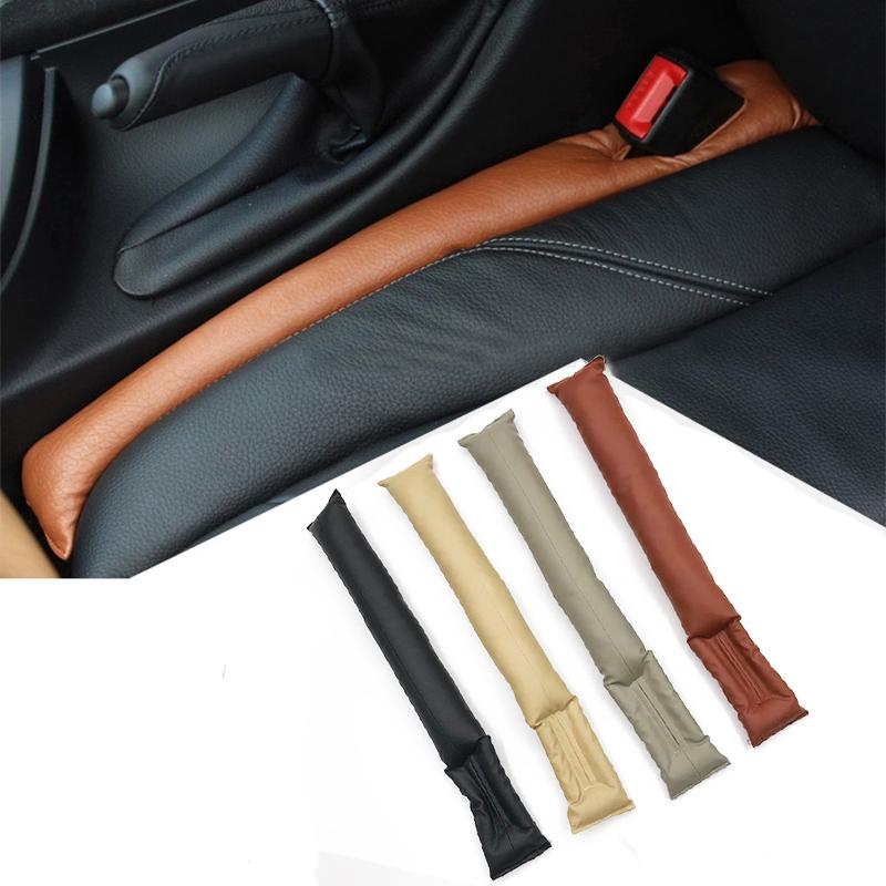 1Piece Universal Car Seat Space Cover PU Leather Soft Mat Auto Faux Car Seat Pad Gap Fillers Holster Spacer Filler Padding