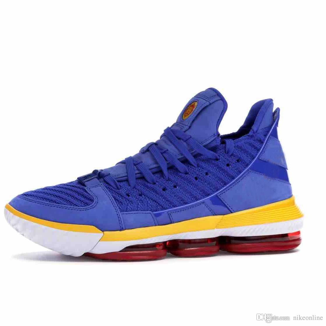 Cheap mens lebron 16 basketball shoes Blue SuperBron Red Martin Purple Wolf Grey MPLS youth kids new lebrons sneakers tennis with box size