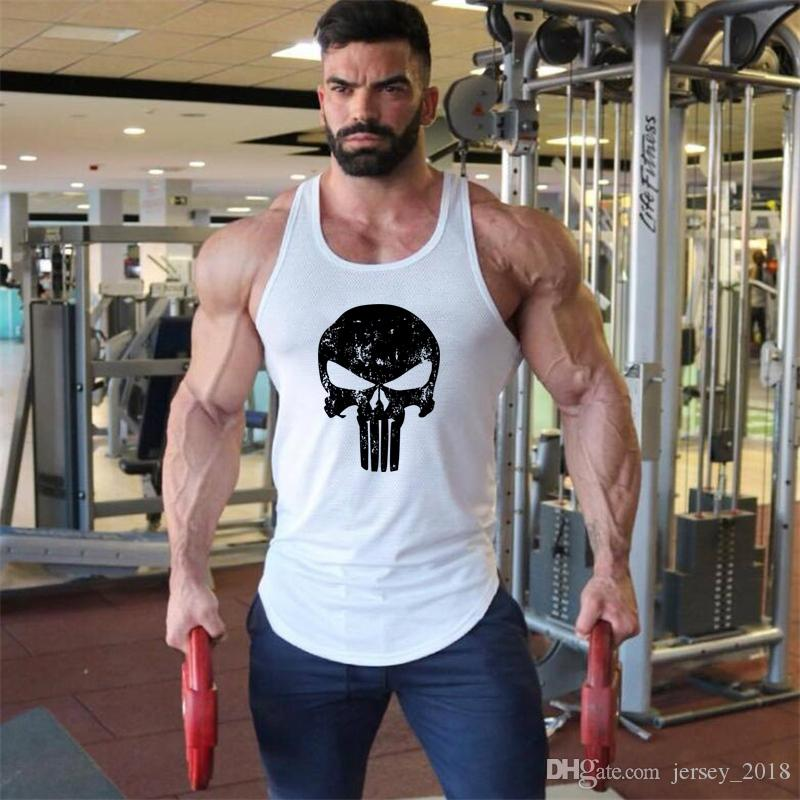 088b637645f55 2019 Brand Clothing Fitness Punisher Tank Top Men Stringer Golds Skull  Bodybuilding Muscle Shirt Workout Vest Gyms Undershirt Singlet  208372 From  ...