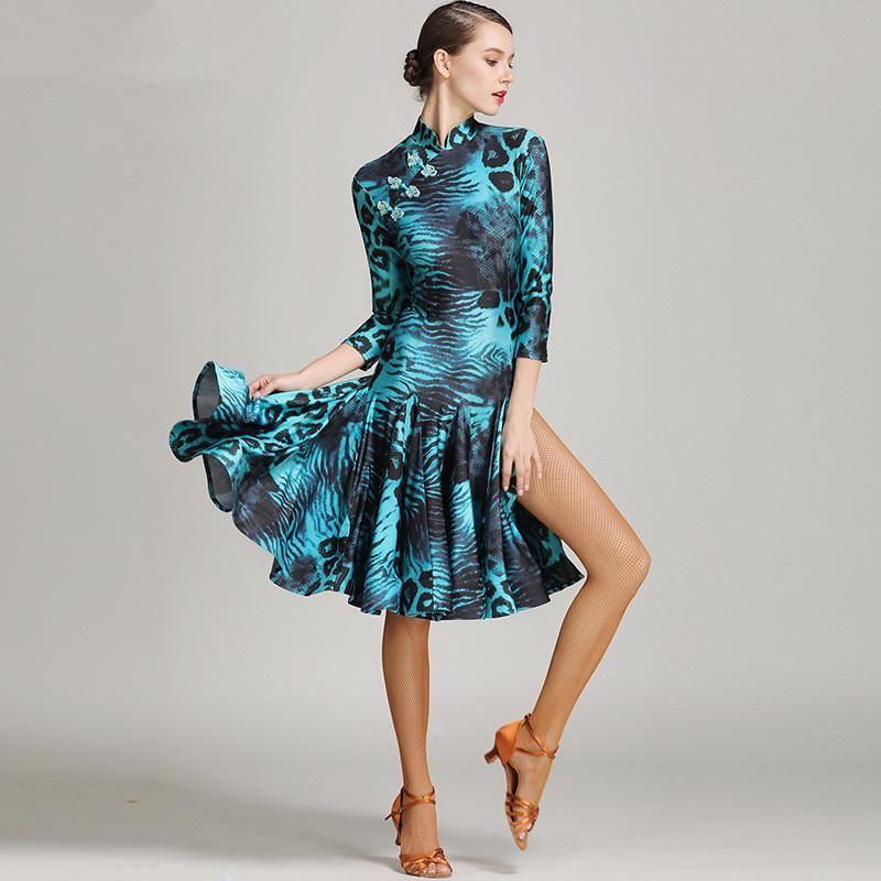Hot Sale Fashion Chinese Style High Quality Dance Costumes Latin Dress Woman