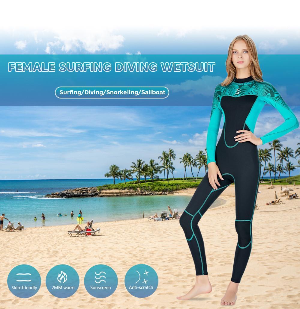 9fea3a4363 Scuba Diving Wetsuit Drysuits Women 2mm Snorkeling Suit Neoprene ...