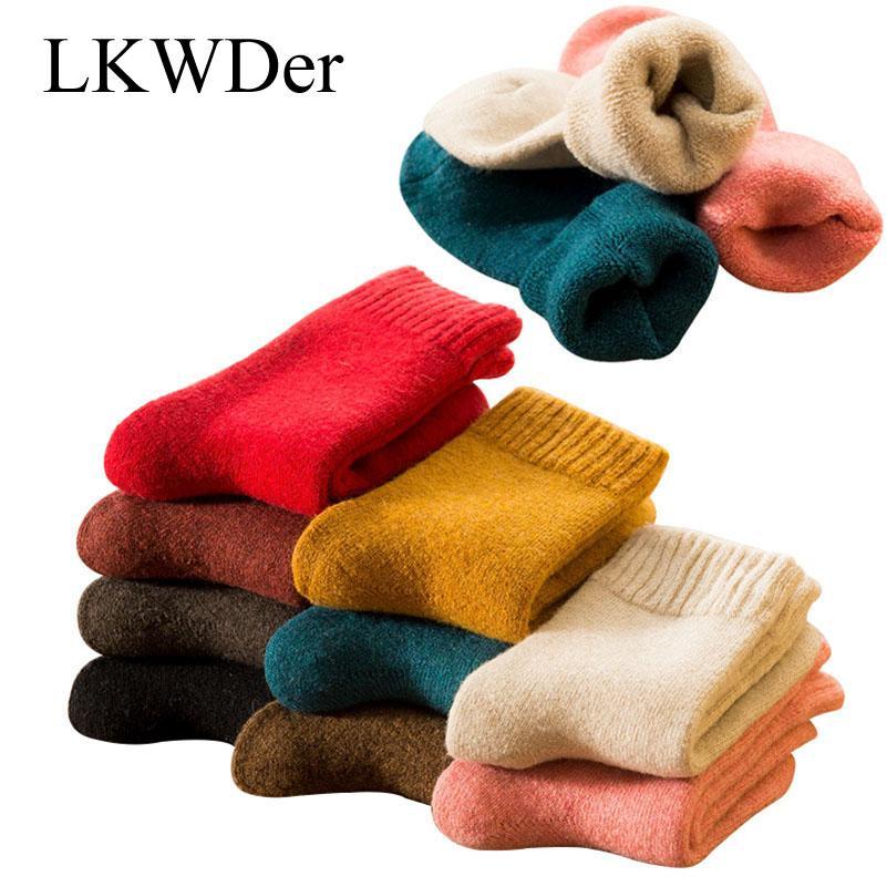 39d8b174c LKWDer Autumn Winter Women s Thick Wool Socks Ladies Soft Warm Long ...