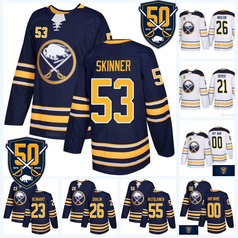 san francisco b9ec1 7b7c0 53 Jeff Skinner 50th Anniversary Buffalo Sabres Jersey 9 Jack Eichel 26  Rasmus Dahlin 21 Kyle Okposo 55 Rasmus Ristolainen 62 Montour