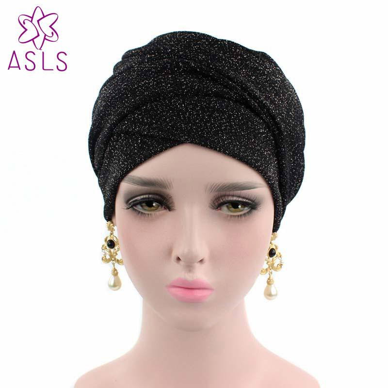 2018 New Fashion Turban Breathable Mesh Shimmer Long Scarf Head Wrap Women  Hijab Tube Head Scarf Tie For Women Jeweled Hair Bands Jewelled Hair Bands  From ... 48a64e4ad66