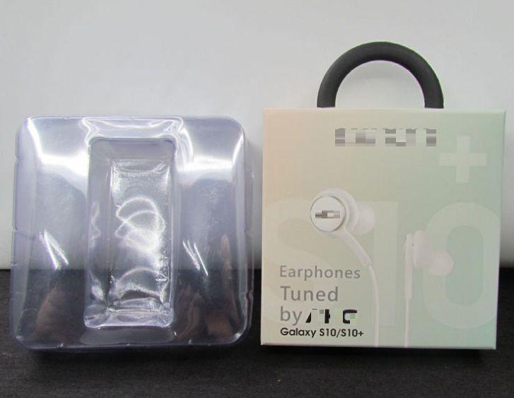 Wired S10 S10E S10P Earbuds HeadphonesHeadset fone de ouvido microfone para Samsung Galaxy S10 S10E S10P auscultadores de 3.5mm EO-IG955 Com pacote
