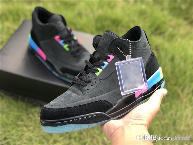 3a260fc861e 2019 2018 Release 3 Quai 54 3S Black Suede Paris Men Basketball Shoes  Authentic Quality Pink Blue Green Man Sneakers With Box AT9195 001 3Jordan  From China5 ...