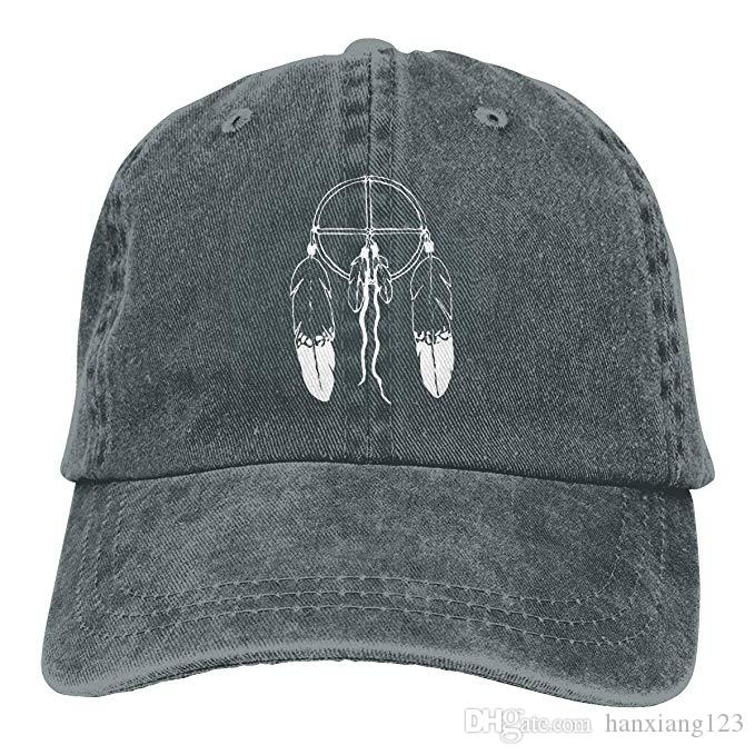 89bbf2ab0d8 2019 2019 New Wholesale Baseball Caps American Indian Dream Catcher  Feathers Mens Cotton Adjustable Washed Twill Baseball Cap Hat From  Hanxiang123