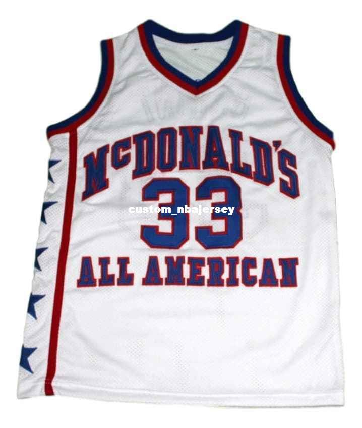 official photos 84223 3f252 wholesale Kobe Bryant #33 McDonald s All American Basketball Jersey White  Stitched Custom any number name MEN WOMEN YOUTH BASKETBALL JERSEYS