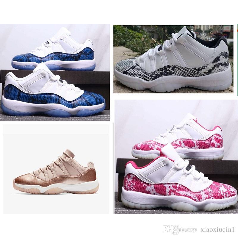 bb4888c19 2019 Mens AJ 11 Low Basketball Shoes Retro Jumpman XI Air Flight 11S ...