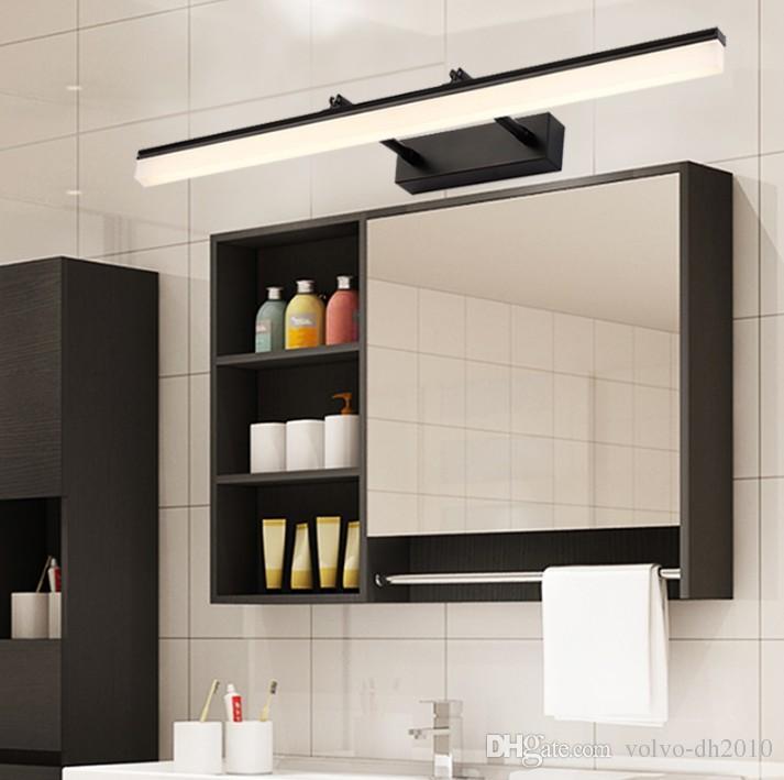 Camera da letto moderna del bagno LED Luce di vanità Lampada da parete  camera da letto interna Argento nero Oro specchio murale Illuminazione ...