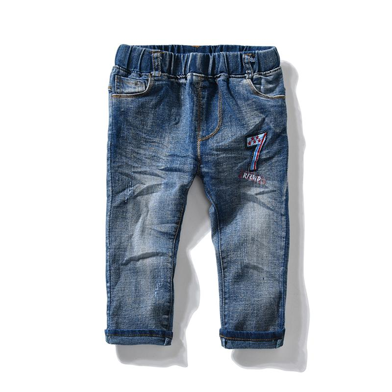 2aa56059e2a Baby Boys pants Straight Fit jeans cool Boys Jeans for Spring Fall Children's  Denim Trousers Kids Designed Pants 1 2 3 4 5 Yrs