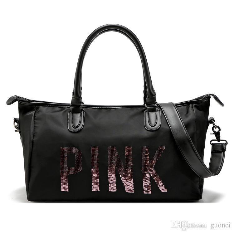 8e4e12d53eb7 Nice Pop Arrival Womens Black Pink Duffel Bags Travel Waterproof Handbags  Luggage Travel Bag Yoga Bag Folding Bags Vogue