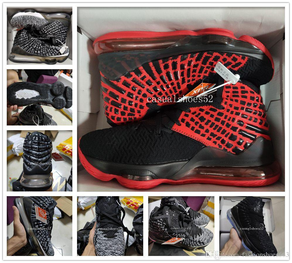 Fashion James Mens Basketball shoes Equality Oreo Bred Lebron 17 Battleknit Designer cushion Baskets Sports Sneaker Men Trainers Size 7-12