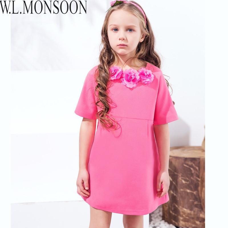 97afdc04d966 Acquista W.L.MONSOON Vestito Da Festa Delle Ragazze Mezza Manica 2019 Marca  Robe Enfant Princess Dress Vestiti Bambini Abiti Bambini Fatti A Mano A   53.16 ...