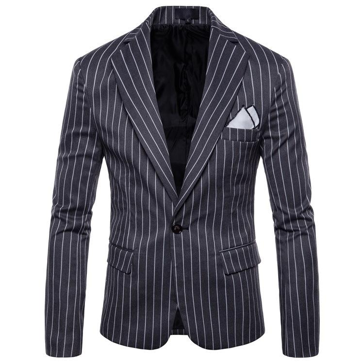 Mens fashion Dance Business affairs Wedding Blazer Long sleeve stripe Suit Jackets pattern Stage dropshipping Slim coats S-4XL