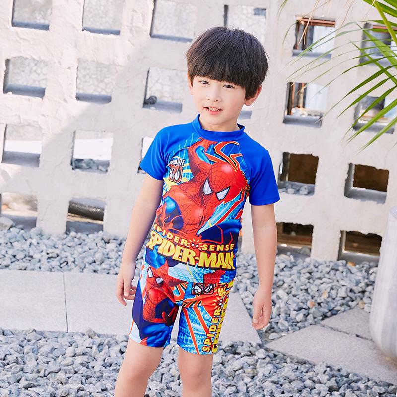 92787c70ff New 2019 Boys Swimsuits 3pcs/set Hat+Shirts+Trunks Children Kids Swimwear  For Boys Beachwear Sports Bathing Sutis