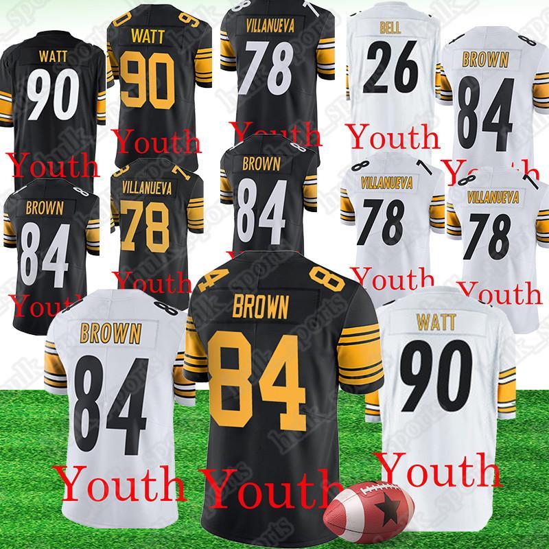 info for 2d4fb 674d3 Pittsburgh 90 T.J. Watt Steeler jerseys 84 Antonio Brown 26 Le'Veon Bell  jersey 78 Alejandro Villanueva american football jerseys