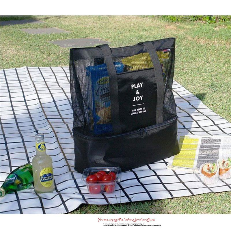 볼사 캔버스 소재 휴대용 절연 열 점심 상자 캐리 토트 보관 가방 피크닉 케이스 높은 품질 인기있는 그린 컬러