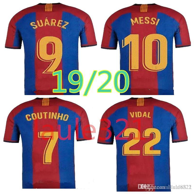 separation shoes d2e27 e705a new 2019 2020 Special Edition barcelona soccer jersey 19 20 VIDAL COUTINHO  SUAREZ messi El Clasico football shirts top quality customize