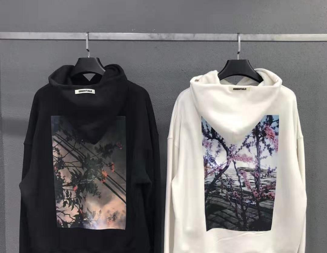 Men 19ss Fear of God FOG ESSENTIALS Couples Floral Photo Print Hoodie Sweatshirt