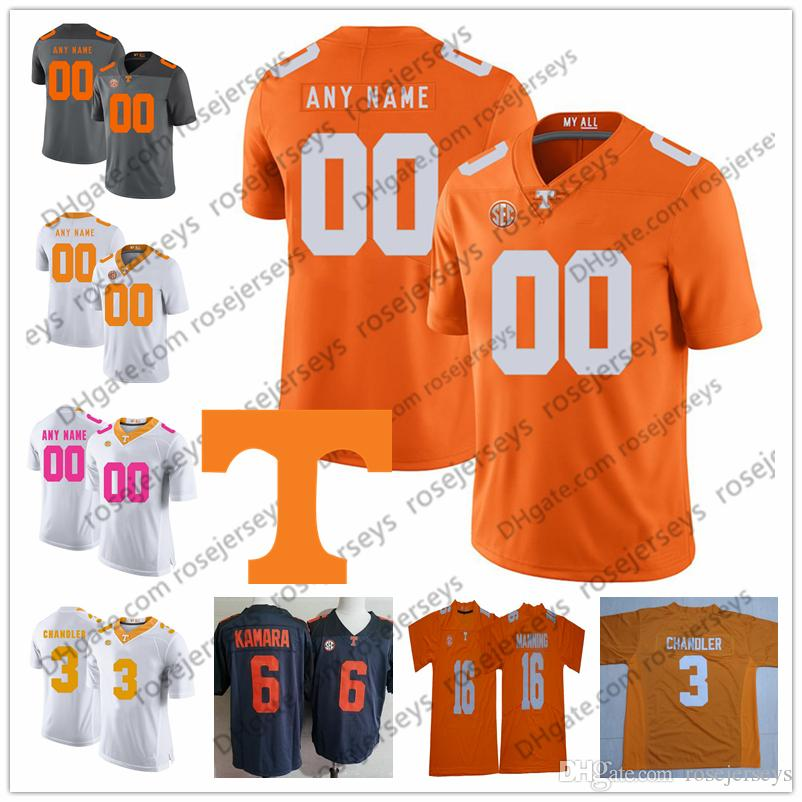 the latest a2420 333fc Custom Tennessee Volunteers 2019 Football Any Name Number Orange Gray White  2 Jarrett Guarantano 3 Ty Chandler 1 Marquez Callaway Jersey