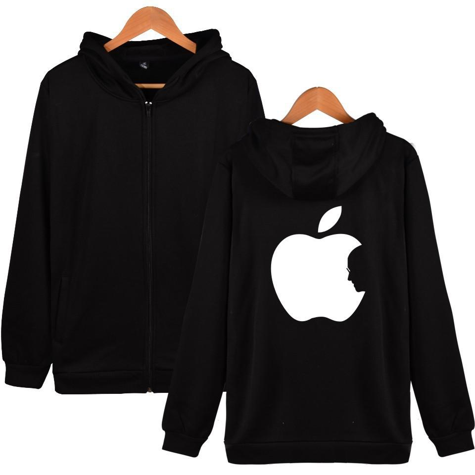 3C Apple Steve Jobs Sweatshirt Men Women Phone Zipper Hoodies Hooded Loose Harajuku Sweat Streetwear Clothes