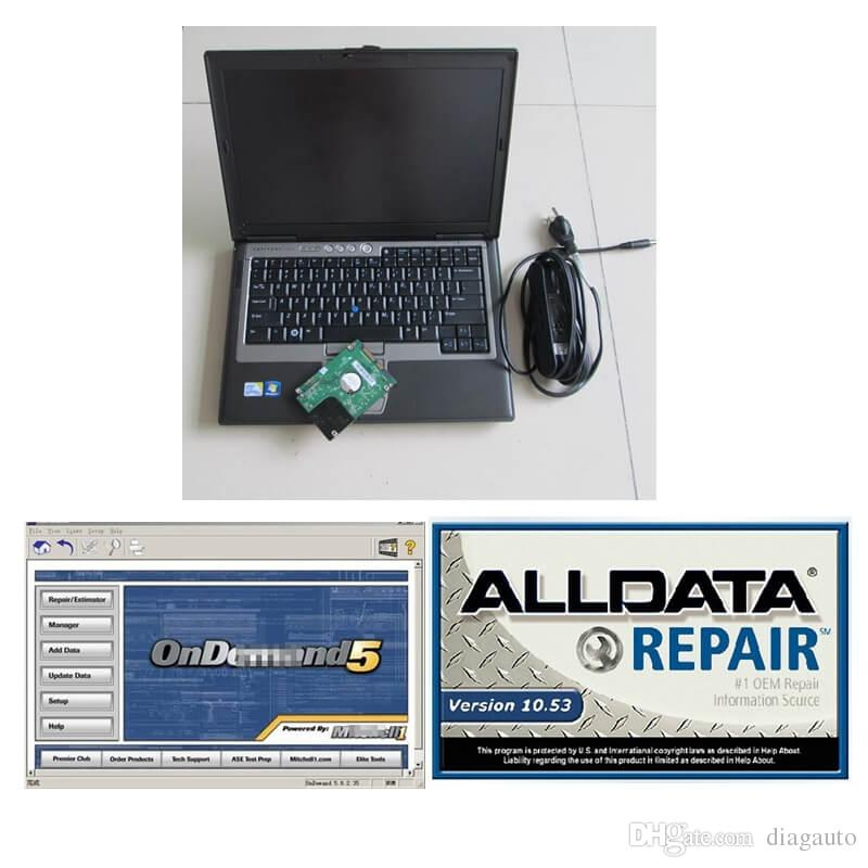 95% NEW D-ELL D630 4GB Laptop 1TB HDD WIN7 system Auto Repair Alldata Soft-ware V10.53+Mit on demd 5 Ready to Use
