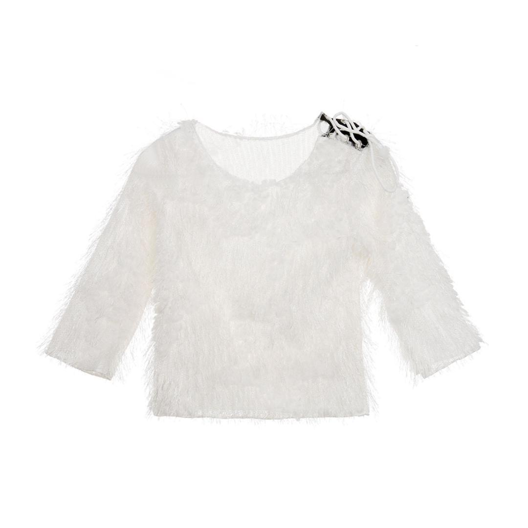 916d6c7a715f Autumn Winter Baby Girl Sweater Toddler Infant Kids White Princess ...