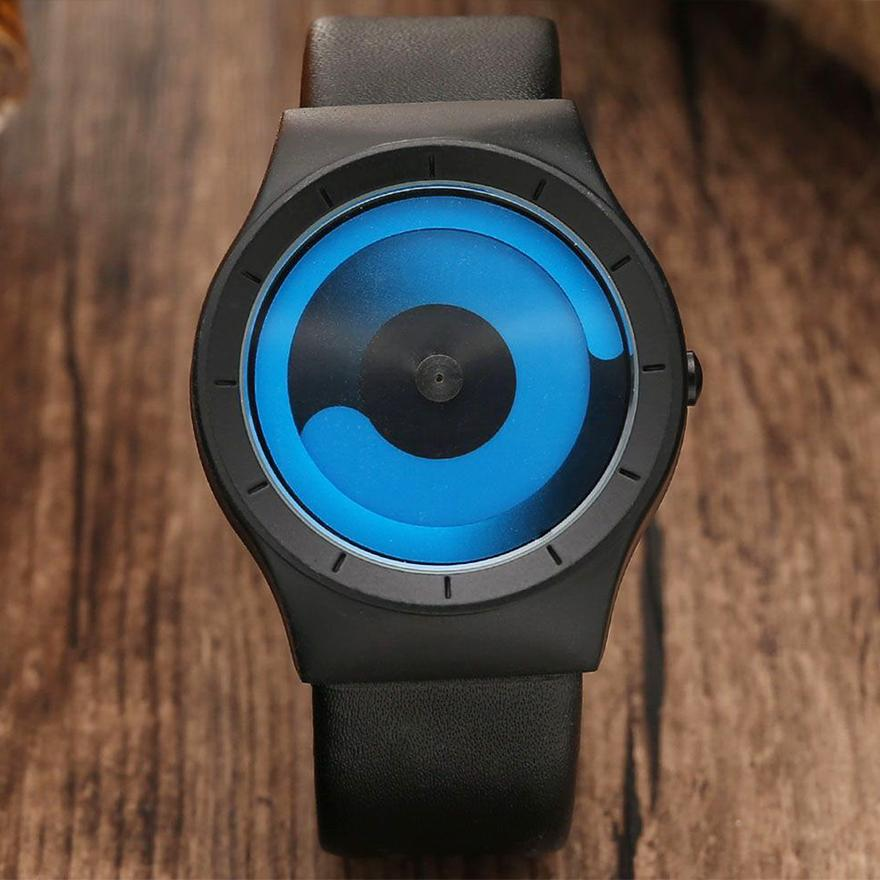 Unique Design Couple Watch Turntable Minimalist Creative Watches Geek Sports Quartz Wrist Watch For Men Women Relogio Masculino