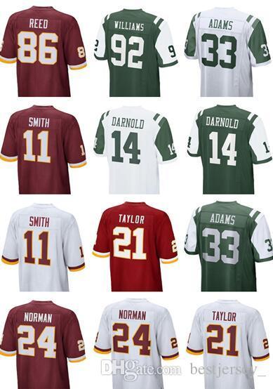 Cheap Men New York 14 Sam Darnold 33 ADAMS Jet Jersey Redskins Jersey 11  Alex Smith 21 Sean Taylor 86 Reed 24 Josh Norman Women Youth Kids Jersey 9c99679cf