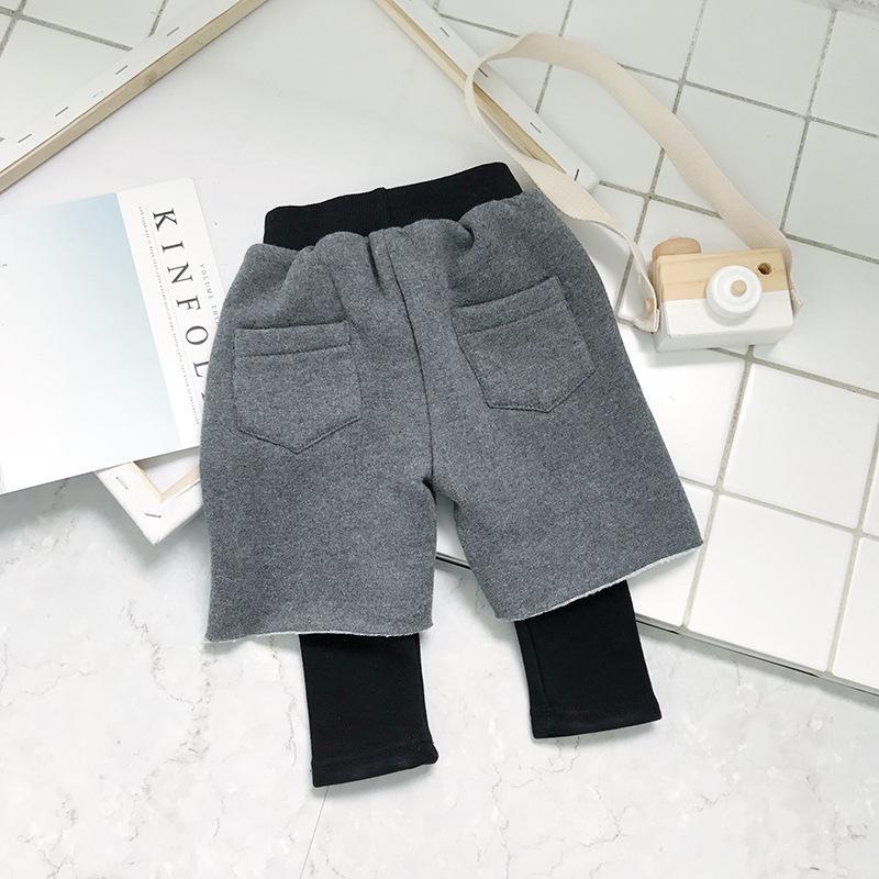 8f4b2ba23d5 Toddler Boy Pants Plus Velvet Fleece Thicken Warm Pants For Boys Fake Two  Piece Harem Winter Leggings Plus Size Trousers Youth Ski Pants Boys Chino  Pants ...