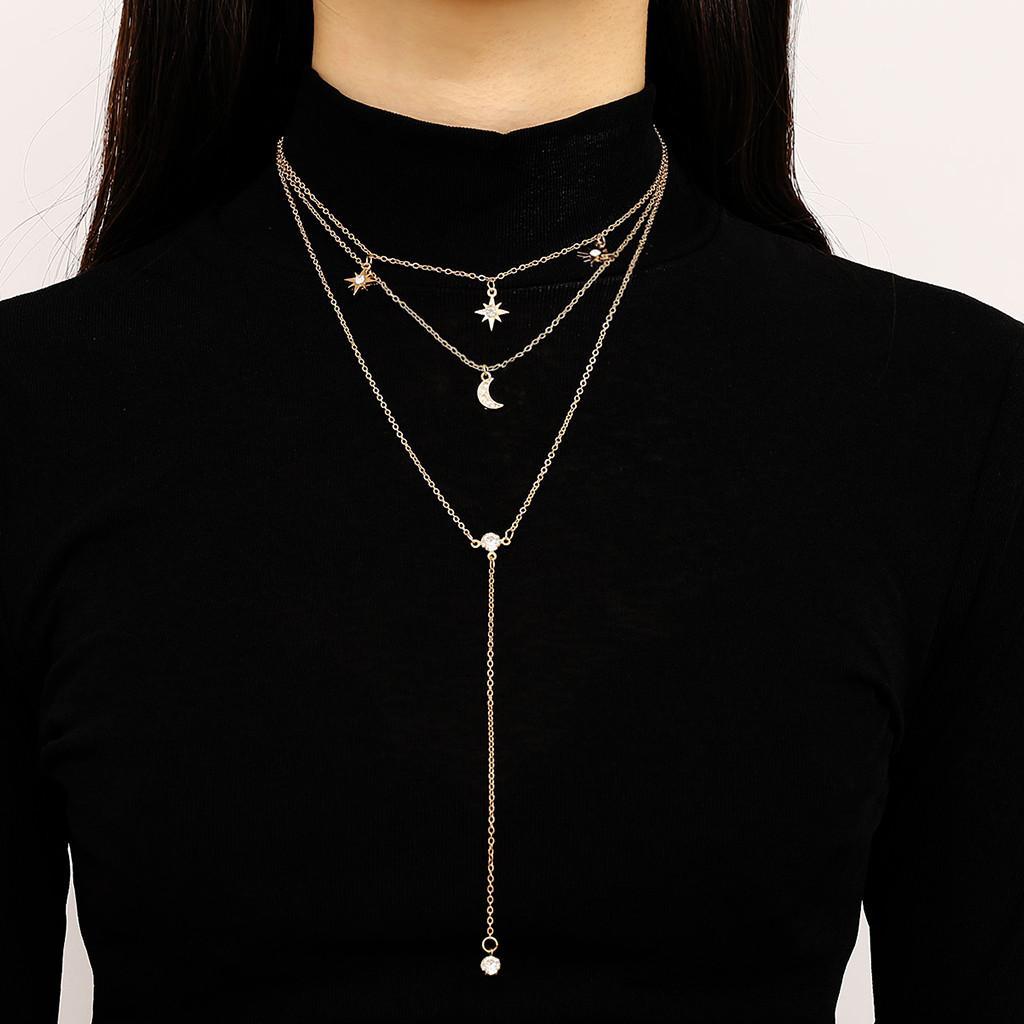 e744772c388a Compre 2019 Nueva Llegada Gargantilla Collar Para Las Mujeres Larga  Estrella Borla Colgante Collares De Cadena De Joyería De Moda Regalos Para  Mujer   A30 A ...