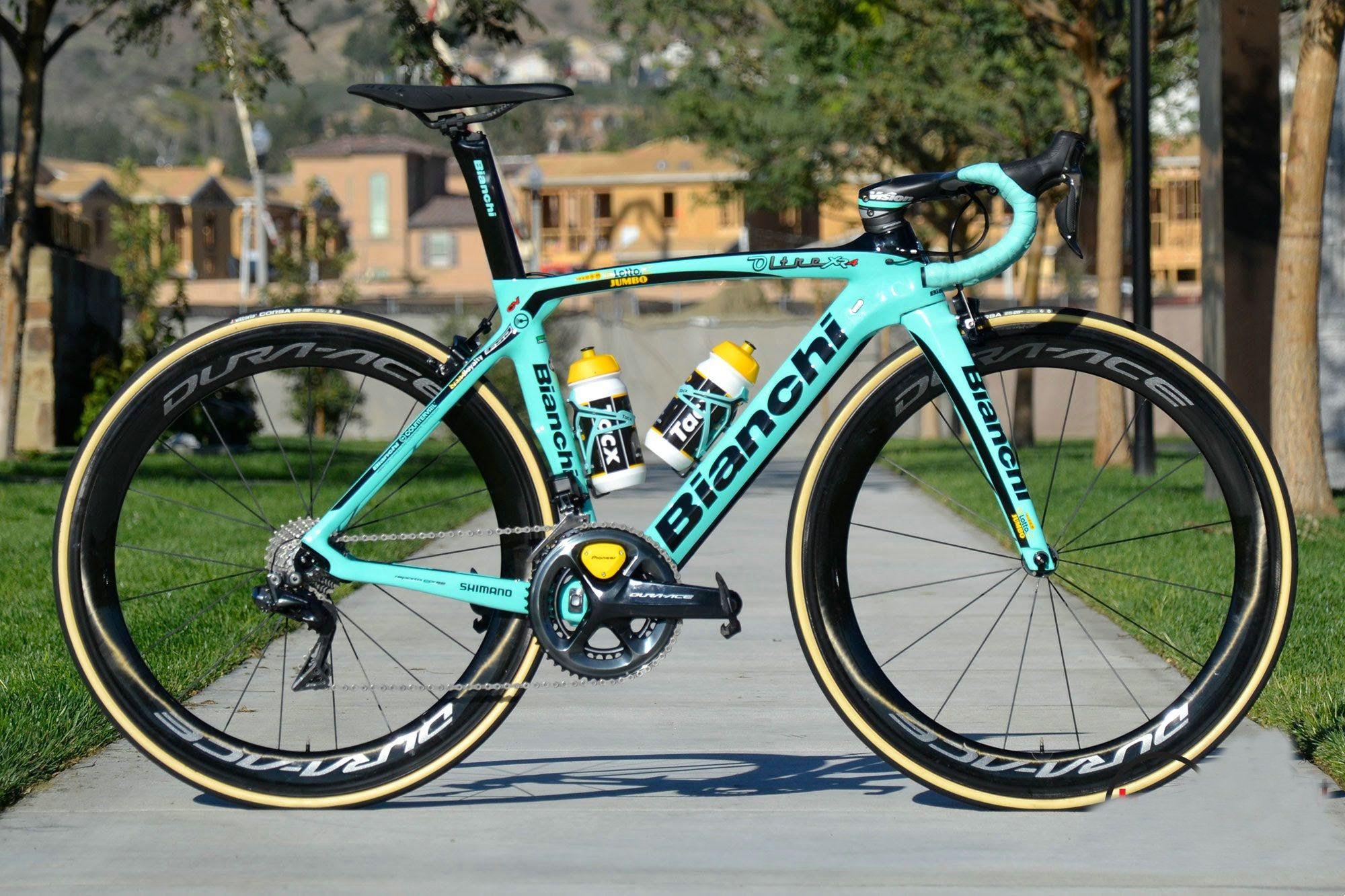 da9ed560a4 Bianchi Team Lotto Jumbo Bianchi Oltre XR4 Complete Bike Dura ace wheelset  Sale carbon handlebar saddle