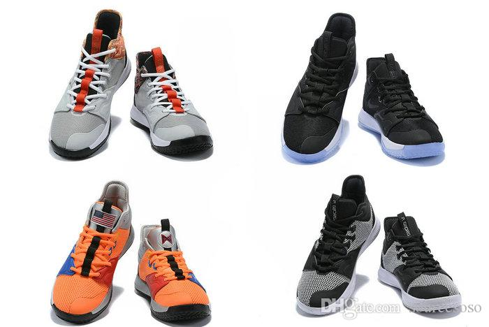 5e7454e4694e 2019 New PG3 NASA Paul George Orange Men Baskertball Shoes High Quality PG  III EP Basketball Sneakers Black White Laser Fuchsia Black Shoes Basketball  Shoes ...