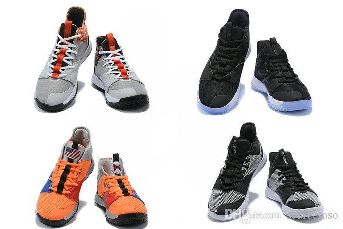 Noires Blanches Chaussures Pour Paul Basketball Iii George Orange Pg Ep Nouvelles Haute De 2019 Hommes Pg3 Qualité Nasa Baskets 5j34RALcq