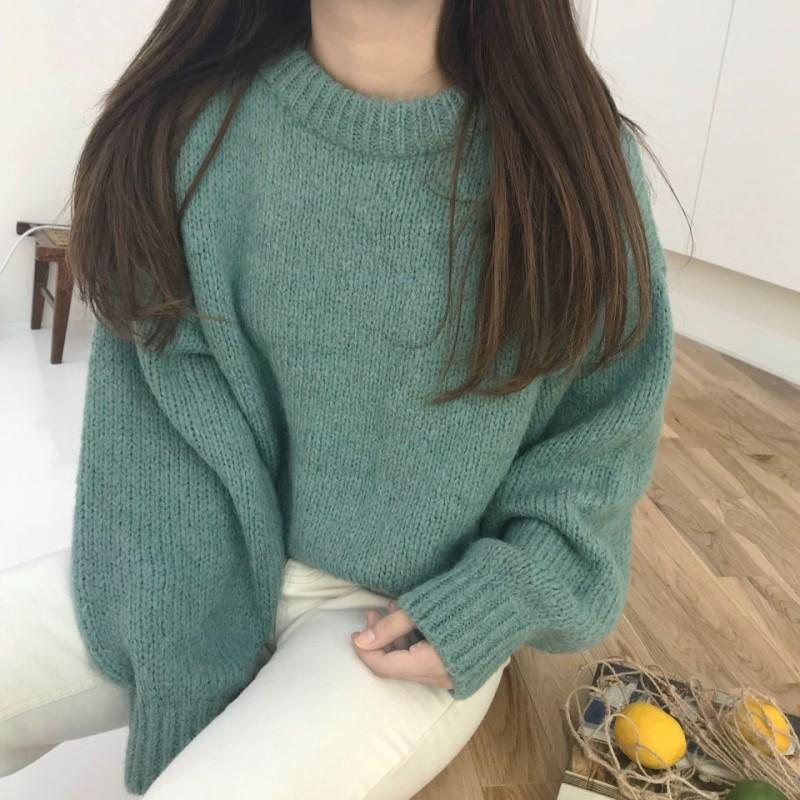 4 colors Oversized Cashmere Sweater Women Knitted Winter Jumper Korean Harajuku Elegant Pullovers Casual Clothes Warm Loose 2019