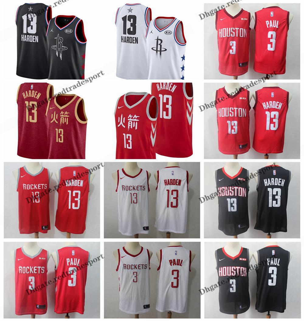 ed62af4fd50 2019 2019 Earned #13 Houston Chris Paul James Harden Rockets Edition  Basketball Jerseys Cheap City James Harden Edition Stitched Shirts S XXL  From ...