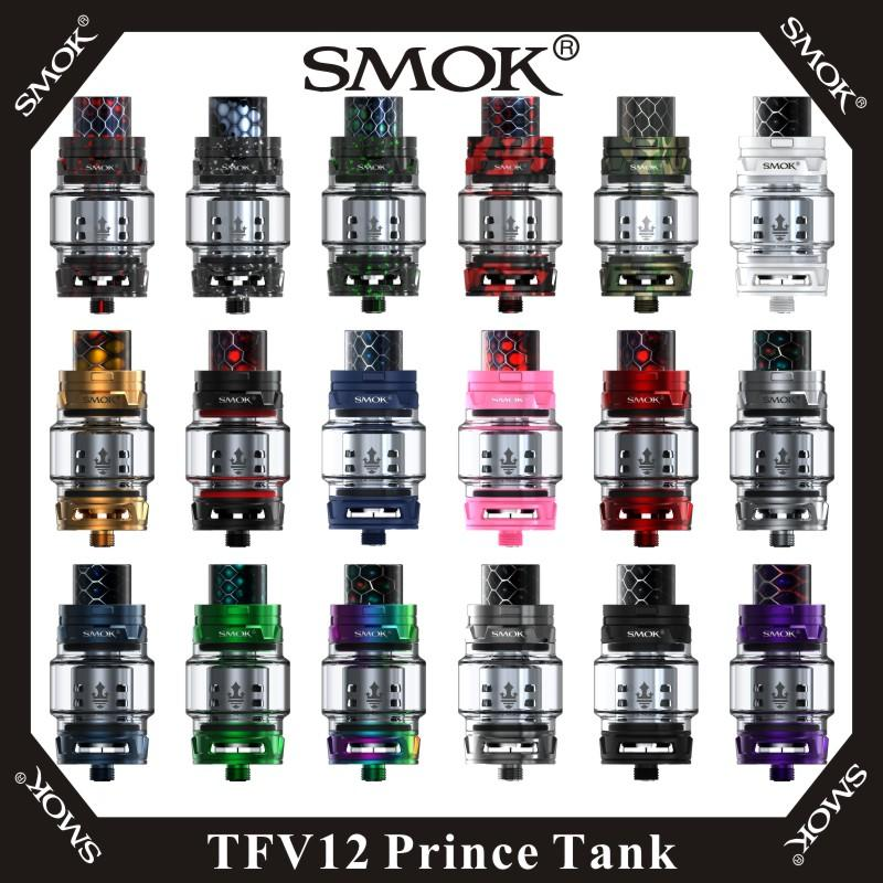 Vape Cartridge SMOK TFV12 Prince Tank Cloud Beast King 8ml Atomizer with  V12 Prince Q4 X6 T10 Coils & & Replacement Glass Tube 100% Original