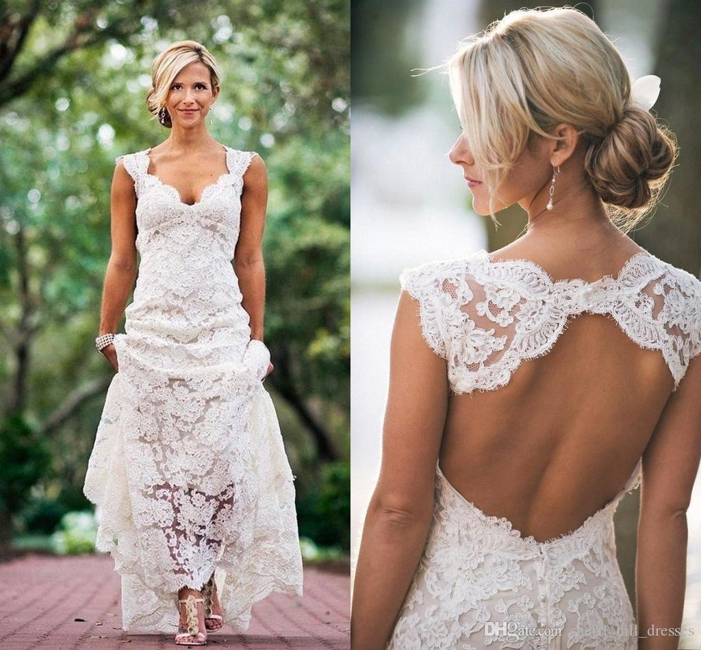 Keyhole Lace Wedding Dress