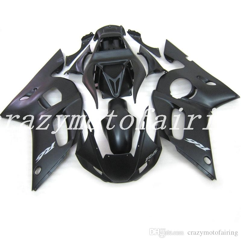 3Gifts New ABS Mold motorcycle plastic Fairings Kits Fit For YAMAHA YZF-R6-600 1998-2002 98 99 00 01 02 Fairing bodywork set Matte Black